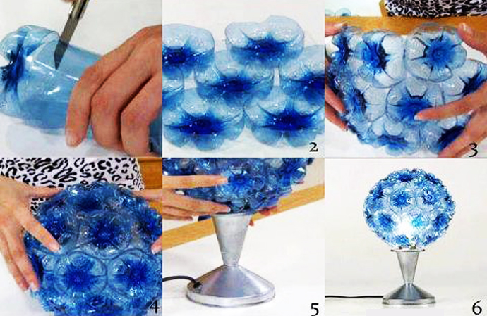 Plastic bottle recycle art frm waste-LycodonFX (13)
