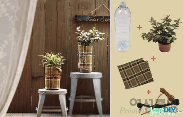 Awesome ideas to recycle plastic bottles into something for Flower pot making with waste material