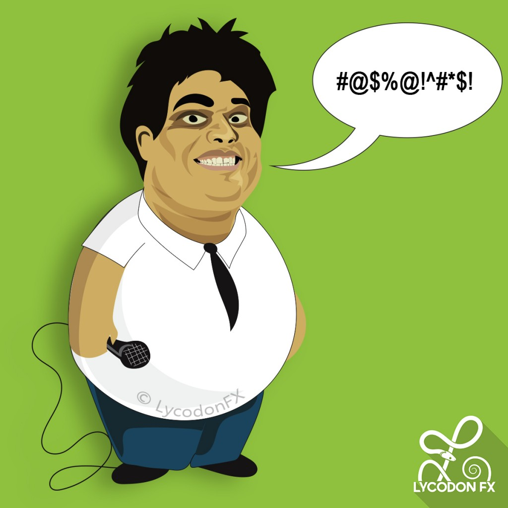 AIB- All India Bakchod : Tanmay Bhat Caricature  cartoon clip-art knockout Roast