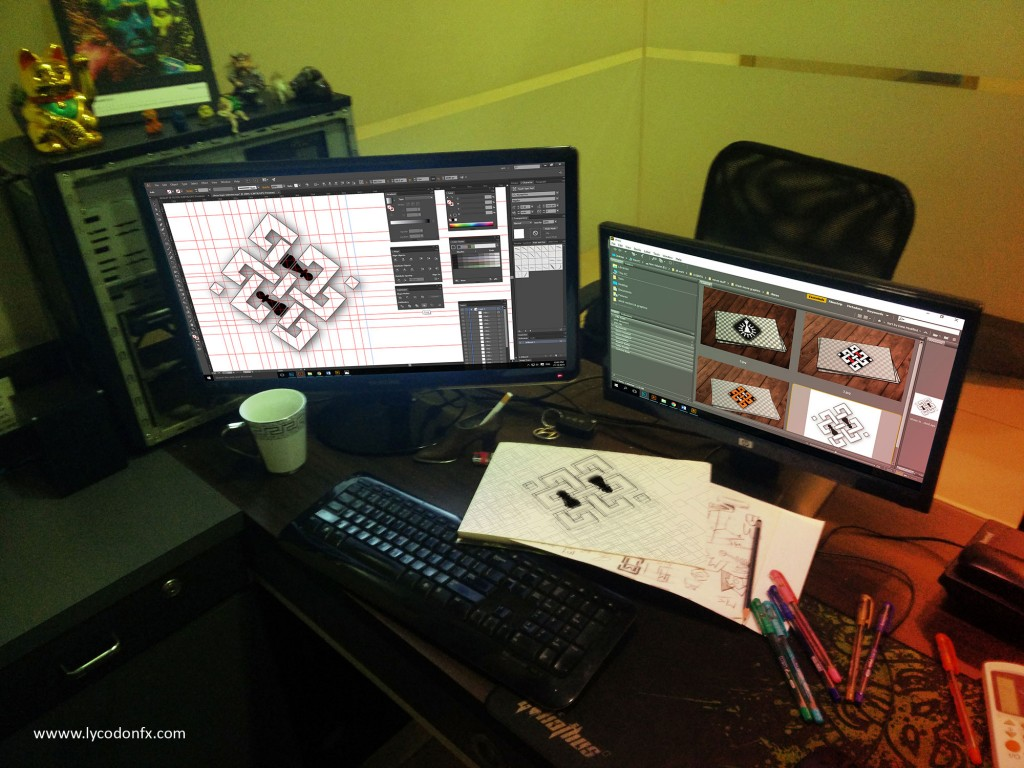 Amitabh Bachchan's Chess school logo design process at lycodonfx