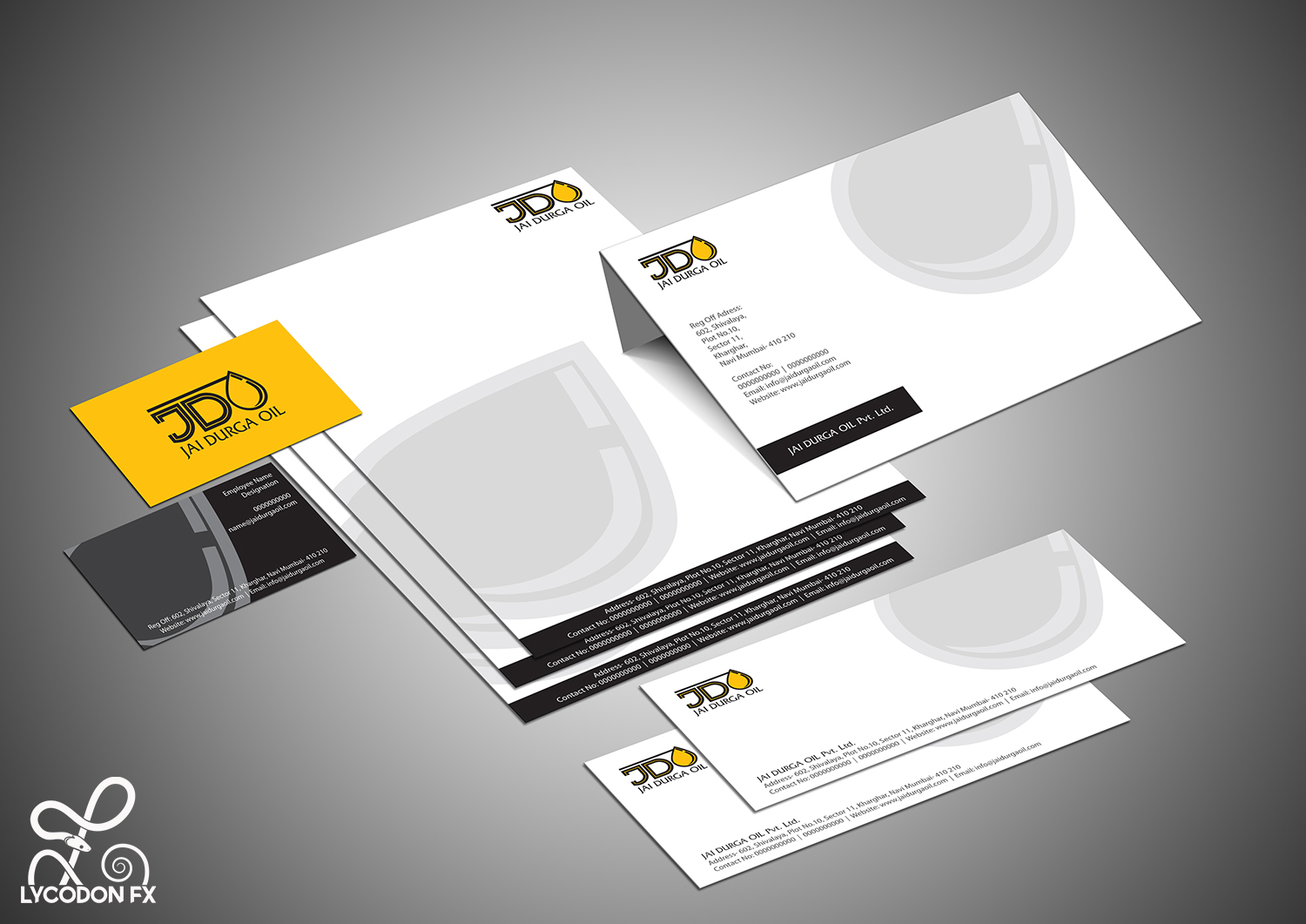 Identity design and development for jai durga oil for Apartment design and development ltd