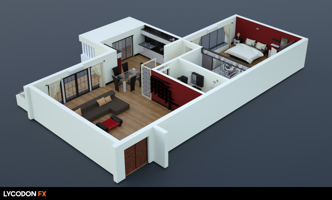 Plan Elevation Isometric : Isometric floor plan elevations for the kreations builders