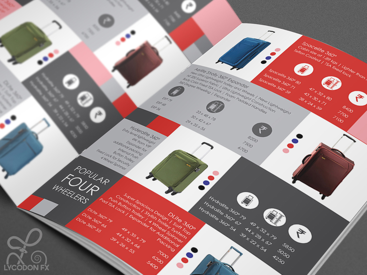 Catalogue Designs For VIP Industries LycodonFX Portfolio