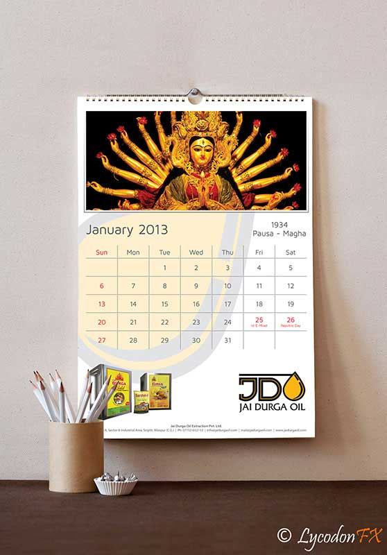 Calendar Design Services : Year calendar design and development for jdo lycodonfx